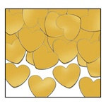 Gold Fanci-Fetti Hearts (1oz/pkg)