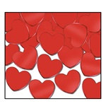 Red Fanci-Fetti Hearts (1oz/pkg)