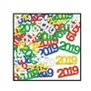 The Fanci-Fetti 2019 Silhouettes are made of metallic foil material and measure approx 3/4 inches. Each package contains half an ounce of confetti. Includes metallic red, blue, green, gold and silver 2019 silhouettes. One per package.