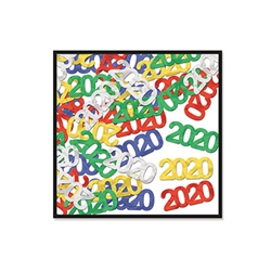 "Spread the celebration around, sprinkle these Fanci-Fetti ""2020"" Silhouettes around to add pops of color and sparkle.  Whether you're ringing in the new year or celebrating a graduation this fanci-fetti will add the finishing touch you've been looking for"