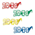 """2014"" Glittered Foil Eyeglasses (One Pair of Eyeglasses Per Package)"