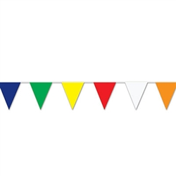 Multi-Color Outdoor Pennant Banner, 30 ft