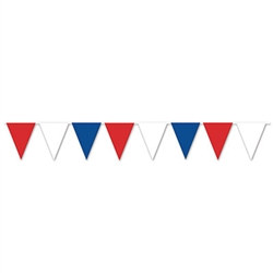 Red, White & Blue Pennant Banner