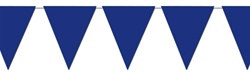 Blue Indoor/Outdoor Pennant Banner, 12 ft