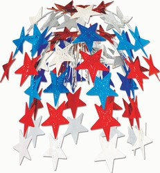 Red, White, and Blue Star Cascade