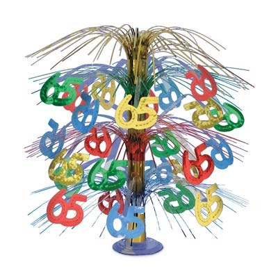 65th Cascade Centerpiece, Multi-color, 18 Inches  (1/Pkg)