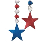 Patriotic Foil Star Danglers