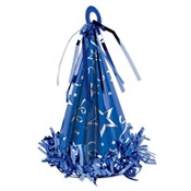 Blue Cone Hat Balloon Weight