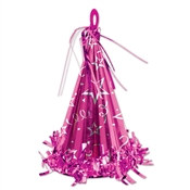 Cerise Cone Hat Balloon Weight