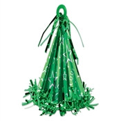 Green Cone Hat Balloon Weight