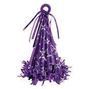 Purple Cone Hat Balloon Weight