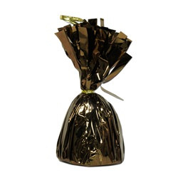 Chocolate Brown Metallic Wrapped Balloon Weight