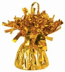 Gold Metallic Wrapped Balloon Weight, 6 ounces (1/pkg)
