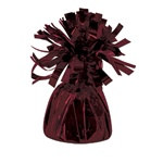 Maroon Metallic Wrapped Balloon Weight