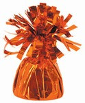 Orange Metallic Wrapped Balloon Weight, 6 ounces