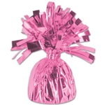 Pink Metallic Wrapped Balloon Weight