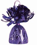 Purple Metallic Wrapped Balloon Weight, 6 ounces
