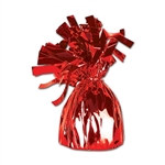 Red Metallic Wrapped Balloon Weight, 6 ounces (1/pkg)