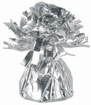 Silver Metallic Wrapped Balloon Weight, 6 ounces (1/pkg)