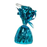 Turquoise Metallic Wrapped Balloon Weight
