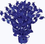 Blue Graduate Cap Gleam 'N Burst Centerpiece