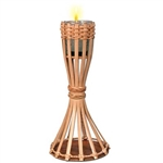 Bamboo Tiki Table Torch with Candle