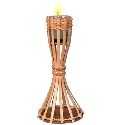 Attractive Bamboo Tiki Table Torch With Candle