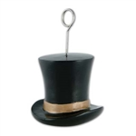 Black and Gold Top Hat Photo/Balloon Holder