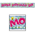 Metallic Happy Mother's Day Fringe Banner