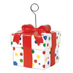 Polka Dot Gift Box Photo/Balloon Holder