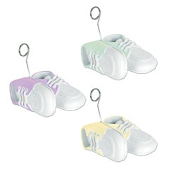 Baby Shoes Photo/Balloon Holder (Assorted Colors)
