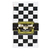 Black and White Checkered Flag Plastic Tablecover