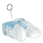 Blue Baby Shoes Photo/Balloon Holder
