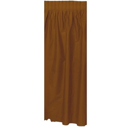 Chocolate Brown Plastic Table Skirting