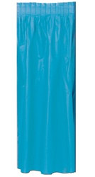 Turquoise Plastic Table Skirting