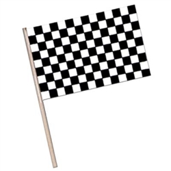 Plastic Checkered Racing Flag 6 inch