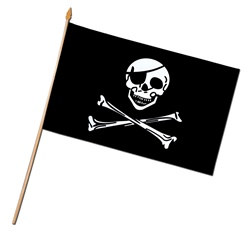 Rayon Pirate Flag (11 in x 18 in)