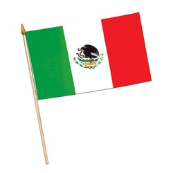Rayon Mexican Flag (11 in x 18 in)