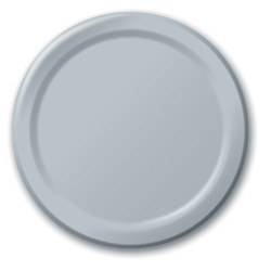 Silver Lunch Plates (24/pkg)