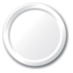 White Lunch Plates (24/pkg)