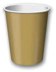 Gold Hot/Cold Cups (24/pkg)