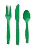 Green Assorted Cutlery (24/pkg)