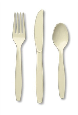 Ivory Assorted Cutlery (24/pkg)