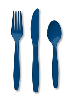 Navy Assorted Cutlery (24/pkg)