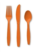 Orange Assorted Cutlery (24/pkg)