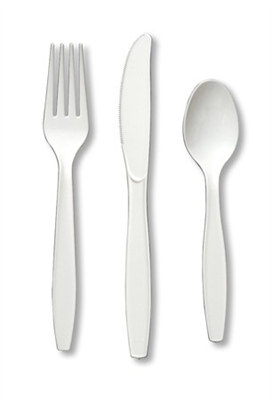 White Assorted Cutlery (24/pkg)