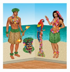 Hula Girl and Polynesian Guy Props