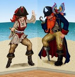 Bonny Blade and Calico Jack