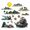 Pirate Ship and Island Props