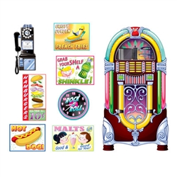 Soda Shop Signs and Jukebox Props